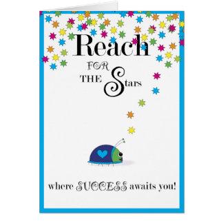 Reichweite für den Stern-Erfolg Grußkarte