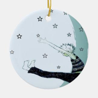 Reichweite für die Sterne und den Mond Keramik Ornament