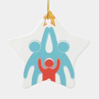 Reichweite für Ihre Träume Keramik Stern-Ornament