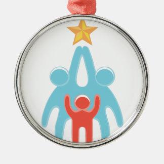 Reichweite für Ihre Träume Rundes Silberfarbenes Ornament
