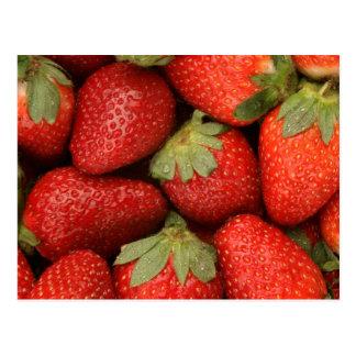 reife Erdbeeren Postkarte