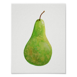 Reife grüne Birne Poster
