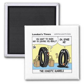 Reifen-inländische Frage-lustige Quadratischer Magnet
