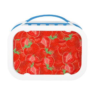Reifes Erdbeermuster Brotdose