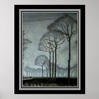 Reihe der Bäume bis Januar Mankes Ca 1915-16x20 Poster