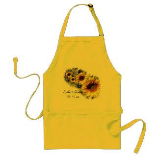 Reihe der gelben Sonnenblume-Garten-Hochzeit Schürze