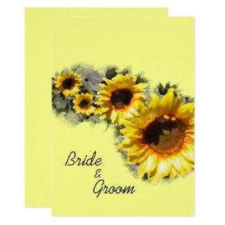 Reihe der gelben Sonnenblumen, die Einladung