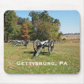 Reihe der Kanonen auf dem Gettysburg-Schlachtfeld Mousepads
