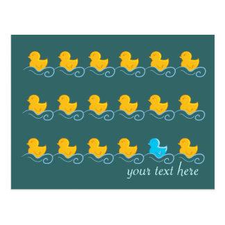 Reihe der niedlichen Entenkarte Postkarte
