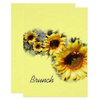 Reihe des gelben Brunchs der Sonnenblume-Mutter Karte