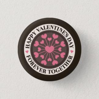 Reihe des Herz-für immer zusammen Valentinsgrußes Runder Button 3,2 Cm