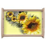 Reihe des Sonnenblume-Serviertabletts