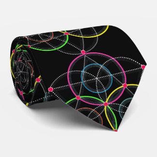 Reihe geometrische Kreise und Linien in der Farbe Personalisierte Krawatte