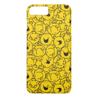 Reihe Herr-Happy   des Gelbs lächelt Muster iPhone 8 Plus/7 Plus Hülle