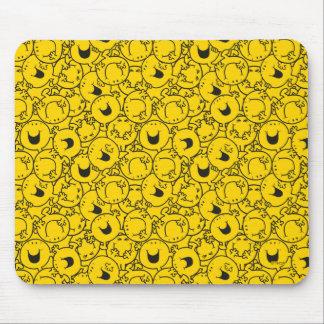 Reihe Herr-Happy | des Gelbs lächelt Muster Mauspad