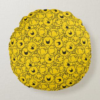 Reihe Herr-Happy | des Gelbs lächelt Muster Rundes Kissen