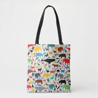 Reihe illustrierte Tiere Tasche