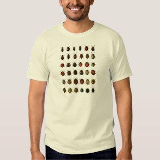 Reihe Marienkäfer T Shirt