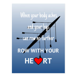 Reihe mit Ihrem Herzen inspirierend Postkarte