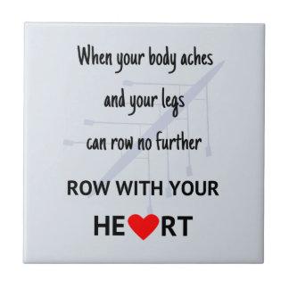 Reihe mit Ihrer Herzmotivation Fliese
