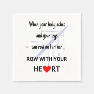 Reihe mit Ihrer Herzmotivation Papierservietten
