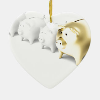 Reihe mit piggy Banken Keramik Ornament