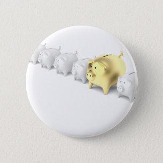 Reihe mit piggy Banken Runder Button 5,1 Cm