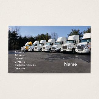 Reihe oder Flotte große LKWs Visitenkarte
