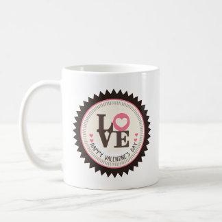Reihe Tages Liebedes glücklichen Valentines Kaffeetasse