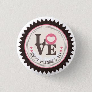 Reihe Tages Liebedes glücklichen Valentines Runder Button 3,2 Cm