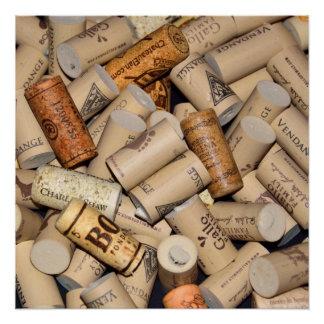 Reihe Wein-Korken Poster
