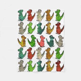 Reihen der T-Rex Fleece-Decke Fleecedecke