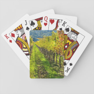 Reihen der Weinstöcke in Napa Valley Kalifornien Spielkarten