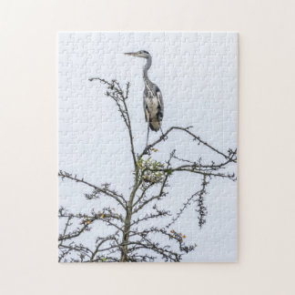 Reiher auf einem Baum-Fotopuzzlespiel Puzzle