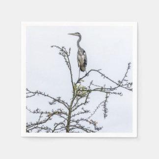 Reiher auf einem Baum Papierserviette
