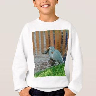 Reiher und sein Fang Sweatshirt