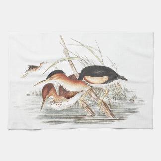 Reiher-Vogel-Tier-Tiere botanisch Geschirrtuch