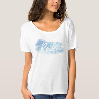 *~* Reiki Aquarell-blaues Spritzen Slouchy T-Shirt
