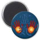 Reiki Hände Runder Magnet 5,7 Cm