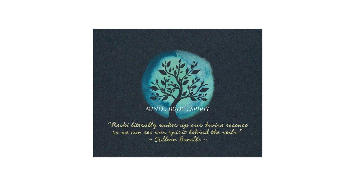 Reiki Haupt Und Yoga Vermittlungs Lehrer Zitate Postkarte