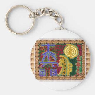 Reiki heilende Symbole durch Navin Joshi Künstler Schlüsselanhänger