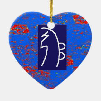 REIKI heilendes Symbole SCHABLONE Gesundheits-Wohl Keramik Herz-Ornament