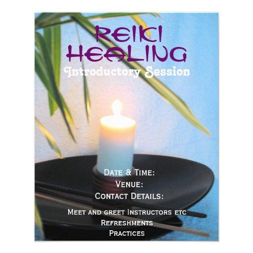 Reiki holistischer Gesundheits- und WohlA5 Flyer