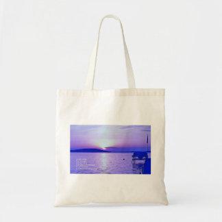 Reiki Prinzip-lila Sonnenaufgang-Tasche Tragetasche