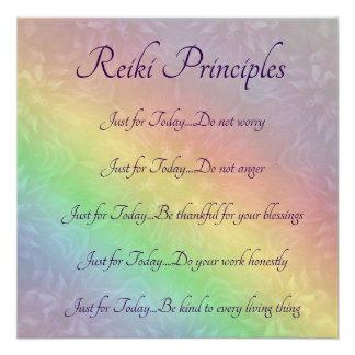 Reiki Prinzipien Poster