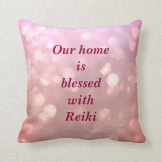 Reiki rosa funkelnd Entwurf Kissen