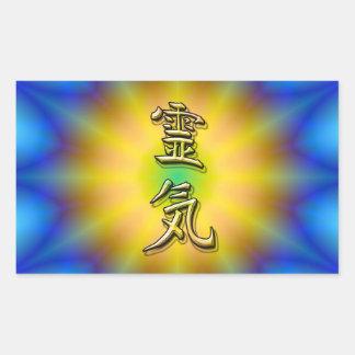 Reiki Symbol Rechteckiger Aufkleber