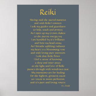 """Reiki Verbindungs"" Gedichtkunst Poster"