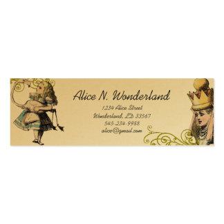 Reilaboration der Vintagen Alicen im Wunderland Mini-Visitenkarten