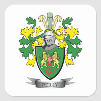 Reilly Wappen Quadratischer Aufkleber